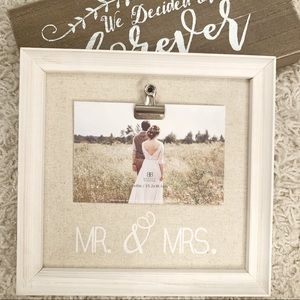 Wedding Frame + Wall Art Set